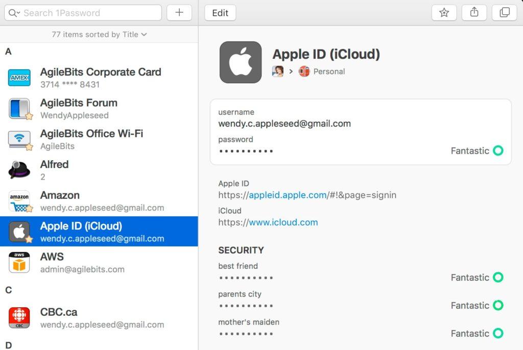crear 1Password mac