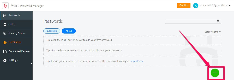 avira password manager guardar contraseña