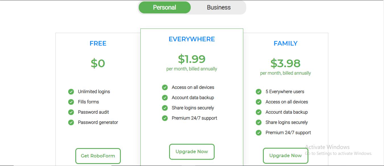 precios de roboform personal