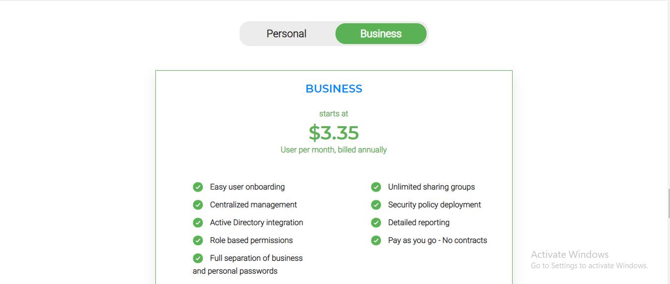 precios de roboform business
