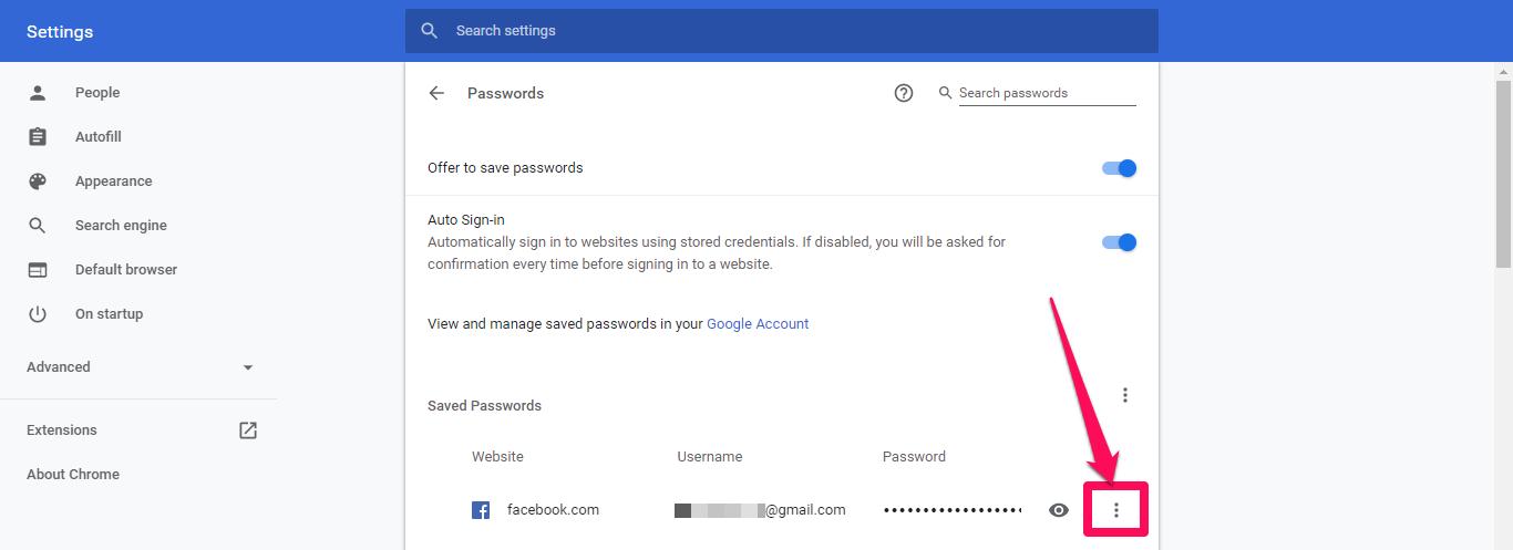 google chrome eliminar contraseñas