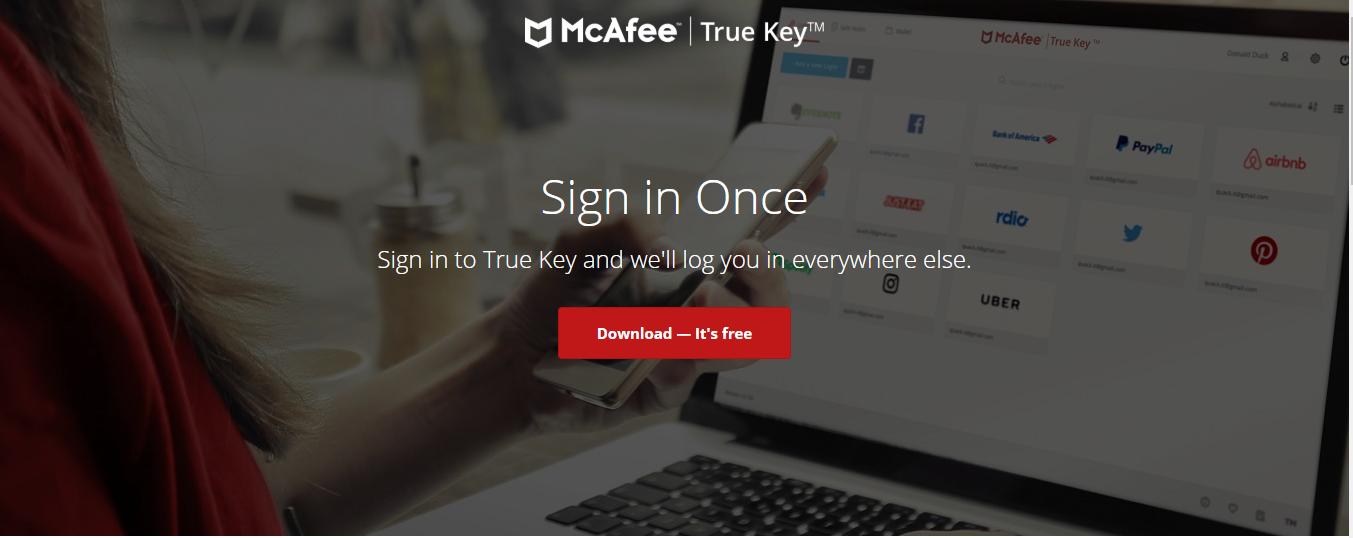 Revisión de McAfee True Key - Opinión